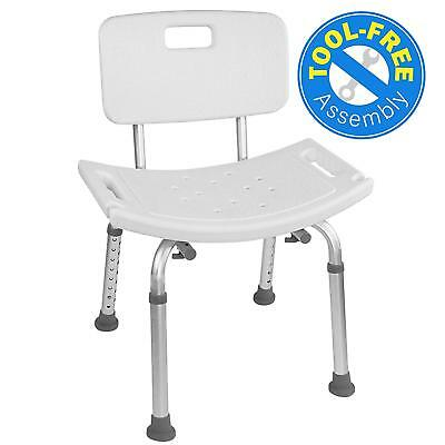 Medical Tool Free Spa Bathtub Adjustable Shower Chair with Removable Back