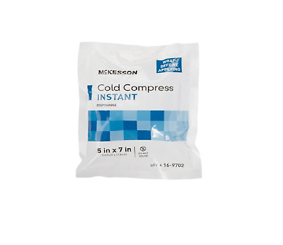 Instant Cold Pack Pain Relief Compress Ice Packs, 5 x 6, Disposable - Case of 50