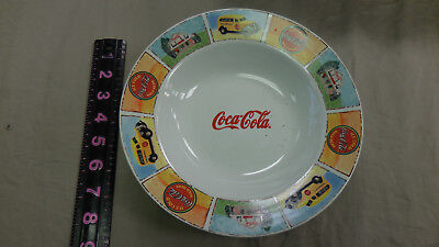 """Coca Cola Bowls """"Good 'Ol Days"""" Set of 3 Colorful Dishes By Gibson 9"""""""