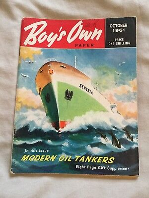 Rare Boys Own Paper October 1961