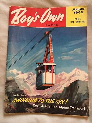 Rare Boys Own Paper January  1963