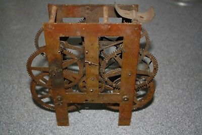 Antique Weight Driven Striking Clock Movement for spares/repairs/parts