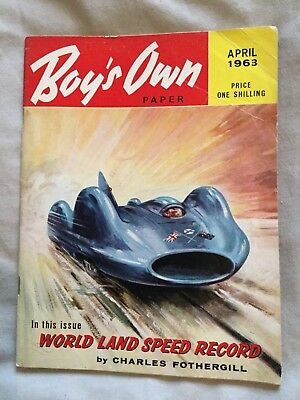 Rare Boys Own Paper April  1963
