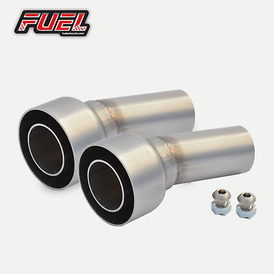 "PAIR of Removable Baffles Noise DB Killers 2"" / 51mm I.D Angled Outlet Exhaust"