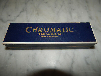Alte Mundharmonica.Chromatic Harmonika F,Vermona,Made in Germany