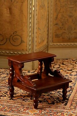 Solid Mahogany Jerome Bed Step Antique Reproduction OCS021 NEW