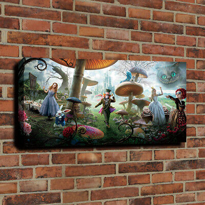Disney Alice in wonderland Canvas Painting Wall Art HD Print Poster Home Decor