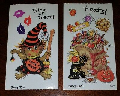 "Suzy's Zoo Halloween Stickers 2 mods ""Trick or Treat!"" and ""treats"""