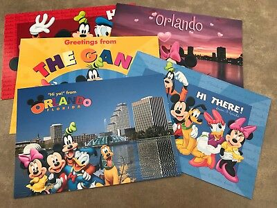 Mickey Mouse And Friends Postcards (Lot Of 5)