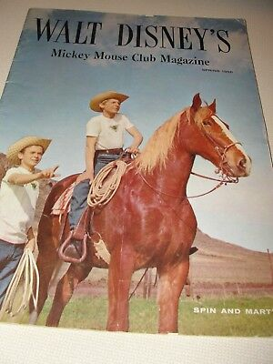 Walt Disney's Mickey Mouse Club Magazine Spring 1956 Spin and Marty 45 pp