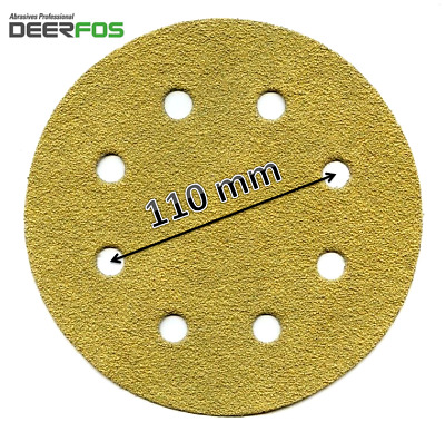 "180 mm 8 HOLE Sanding Discs DEERFOS Pads 7"" fits WORKZONE 750W P40-P240   (328)"