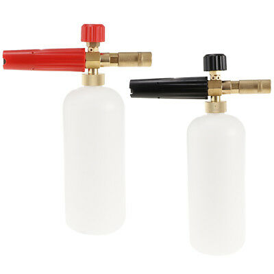 2 Pieces Pressure Washer Jet Wash Soap Bottle Foam Cannon Wash (Black+Red)