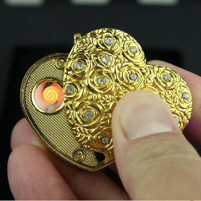 Novelty USB Windproof flameless key chain Electronic charging Cigarette lighters