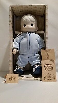 "Precious Moments Timmy 1984 13"" Plush & Porcelain Doll E-5397 In Original Box"