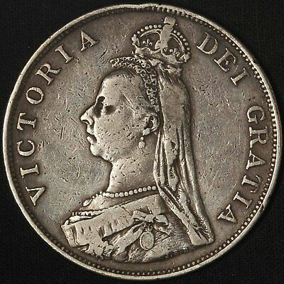 1889 Great Britain Queen Victoria Double Florin - Free Shipping USA