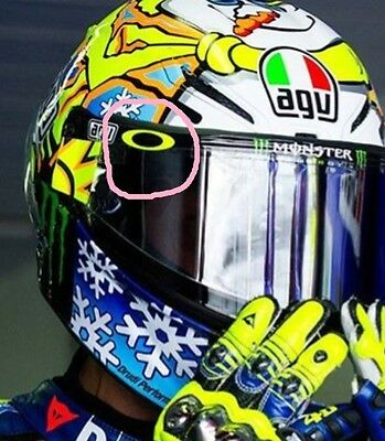 Oakley O's Rossi Visor Decals Yellow x4 stickers all colours Free Delivery
