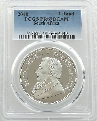 2018 South Africa Krugerrand Silver Proof 1oz Coin PCGS PR69 DCAM - Issue 15,000