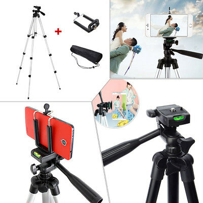 Professional Camera Tripod Stand Holder Mount For Cell Phone iPhone Samsung +Bag