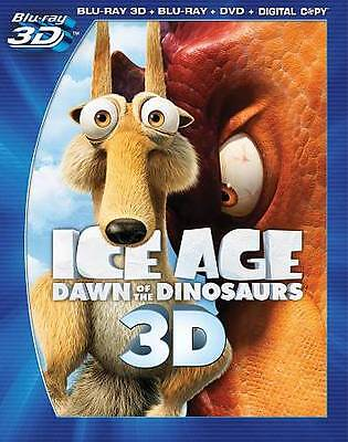 Ice Age Dawn of the Dinosaurs Blu-ray + 3D + DVD 4-Disc Set w Slipcover