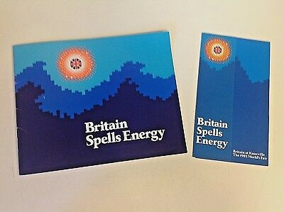 Vintage 1982 Britain at Knoxville World's Fair Energy Informational Brochure Wow