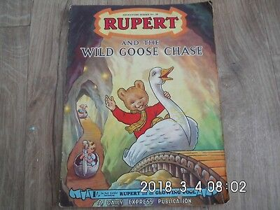 Vintage Rupert and the Wild Goose Chase Adventure Series No 20