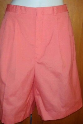 Vintage Thomson Women's Pair Of Salmon Colored Walking Shorts Size 10 Belt Loops