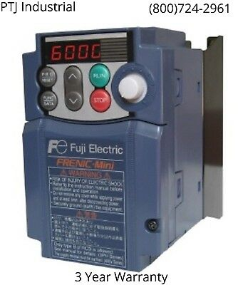 3HP VFD Drive 230 Volt Fuji FRN0012C2S-7U 1 phase in 3 phase out brand new