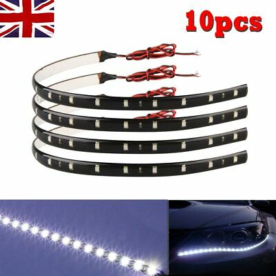 10X 30cm Strip Light Car SMD 3528 LED Decoration Lamp Flexible Waterproof 12V UK