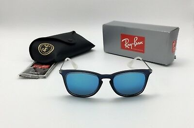 d592c246a5 Ray-Ban RB4221 6170 55 Shot Blue Rubber Square Sunglasses