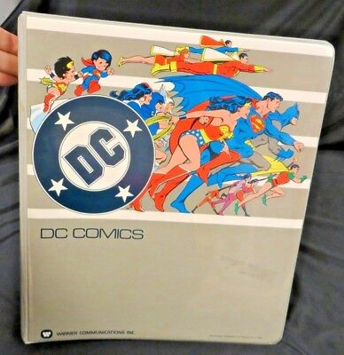 DC Comics  Warner Communications   Loose-Leaf 3-Ring Binder  1982    markings