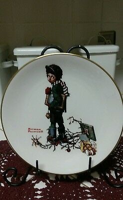 Danbury Mint Norman Rockwell Limited Edition End of Christmas Gorham China Plate