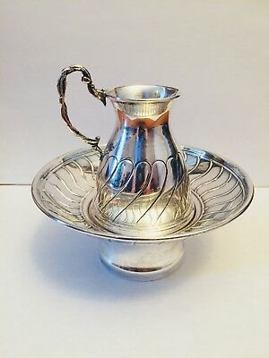 Hazorfim 925 Sterling Silver Judaica Mayim Achronim Washing Cup Small Pitcher