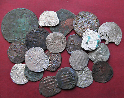 Lot Of 20 Pcs Silver And Copper Coins From 12-16Th Century #e33