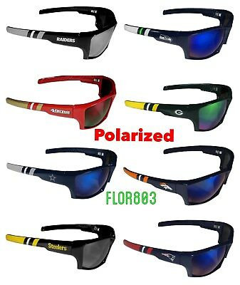 d1bcba2d2858 NFL WRAP 3 Dot Black Sunglasses Pick Your Team Football Sports Sun ...