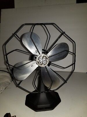 Antique Electric Fan By General Electric Steel Cage And Blade 1939 Still Runs