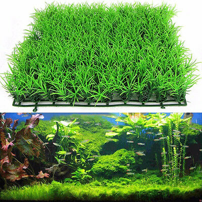 Artificial Water Aquatic Green Grass Plant Lawn Aquarium Fish Tank Landscape Pou
