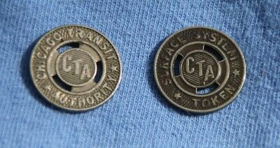Vintage Chicago Transit Authority CTA System Tokens 2