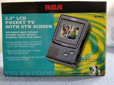 "Vintage RCA 2/2"" Color LCD Pocket TV NEW  IN BOX NIB Portable Color TV"
