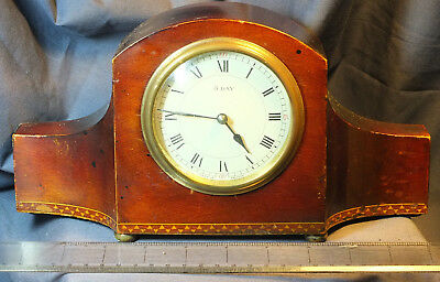 Mahogany Small Mantel Clock With a French 8 Day Movement c1910