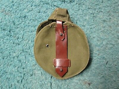 Romanian Military 75RD Drum Magazine Pouch Green Canvas Leather 7.62x39mm
