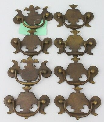 "Lot of 8pcs 2.5"" Vintage Dresser Handle Hardware Bronze Chippendale"