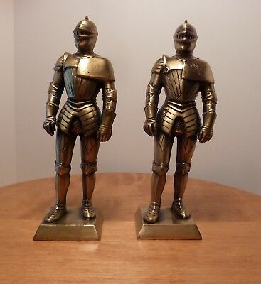 Vintage Solid Brass Knights