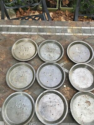 Lot Of 9 Vintage Pie Tins, Crusty Pie Co #1 & 2 Ovens