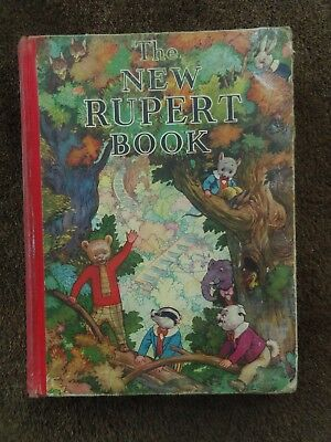 The New Rupert Book - 1938 - Daily Express Publications - Very Good Condition