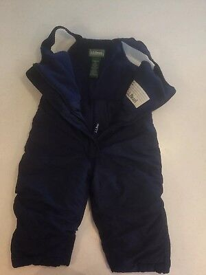 LL Bean Toddler Snow Bib Size 2T