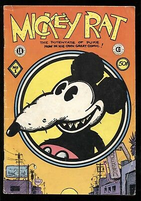 Mickey Rat #1 Underground Comic Book Adults Only Vg 1972 L.a. Company