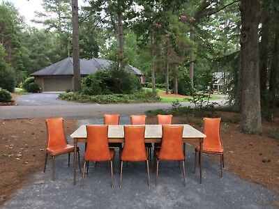 Mid Century Daystrum table dining set 8 chairs nalgahyde Must see NC pickup