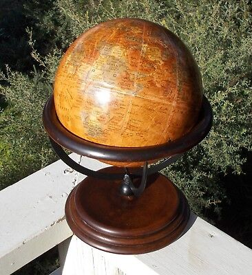 Vintage Desktop / Bookcase World Globe Atlas Geography