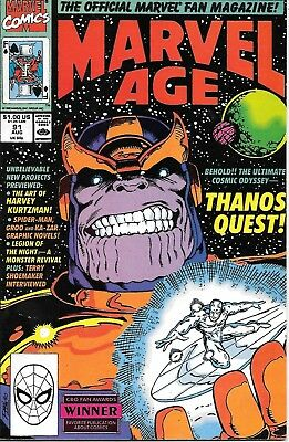 Marvel Age Thanos Quest #91 VG/FN Marvel Comics August 1990