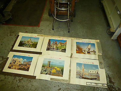 1950 Twa World Airlines 6 Posters Along The Way Of Twa